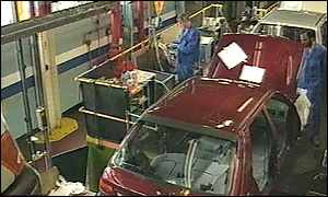 Car production at Ford Dagenham