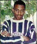 [ image: Stephen Lawrence was killed at a London bus stop]