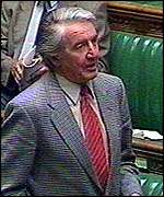 [ image: Dennis Skinner: glad to see the back of the opera hat]