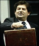 [ image: Nigel Lawson was an easy target for the satirists]