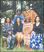 President Rawlings with his family