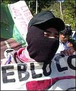 Zapatista supporters