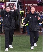 Craig Levein and Peter Houston before the match