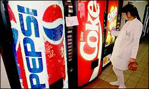 Pepsi and Coca-Cola vending machines