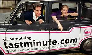 Lastminute.com co-founders Brent Hoberman (left) and Martha Lane-Fox