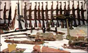 IRA weapons seized by security forces