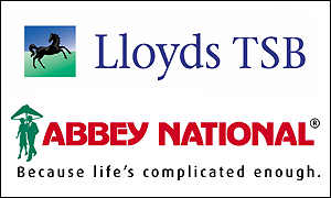 Abbey National and Lloyds TSB logos