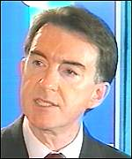 Secretary of State Peter Mandelson