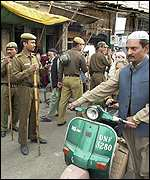 Police on the streets of Delhi