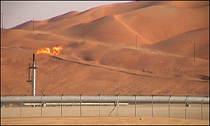 Saudi oil fields in the Empty Quarter