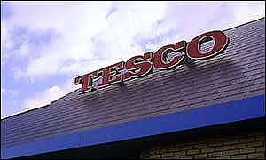 Exterior of a Tesco store