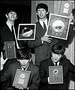 Beatles with gold discs, 1963