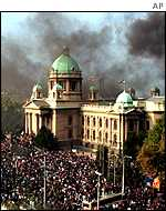 The storming of the Belgrade parliament