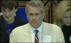 MP Martin Bell winning the Tatton seat.