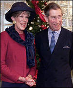 Sue Nicholls and Prince Charles