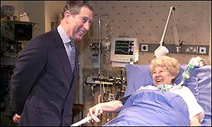 Prince Charles meets Vera Duckworth, played by Liz Dawn