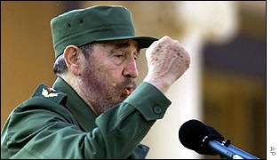 Fidel Castro at rally