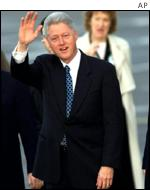 President Clinton arrives in Dublin