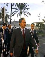 UK Prime Minister Tony Blair in Nice