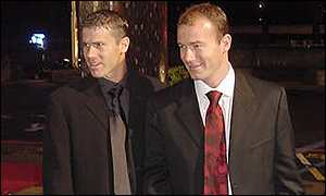 Newcastle United stars Robert Lee and Alan Shearer