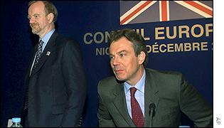 Robin Cook and Tony Blair