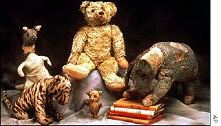 The original toys on which AA Milne based Tigger, Kanga, Pooh, Eeyore and Piglet