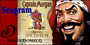 Captain Morgan rum graphic