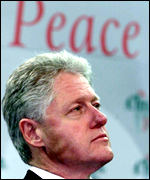 Outgoing US President Bill Clinton