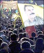 Pro-Ocalan demonstration in Strasbourg