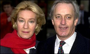 Neil Hamilton with his wife Christine