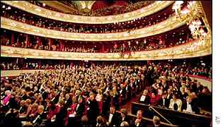 Royal Opera House on opening night