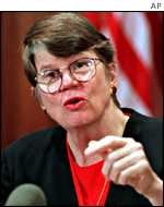 US Attorney General, Janet Reno