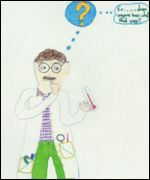 child's drawing of a scientist