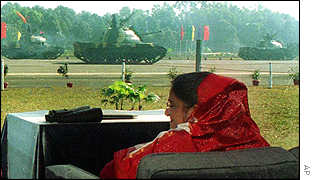 Prime Minister Sheikh Hasina observes the military parade