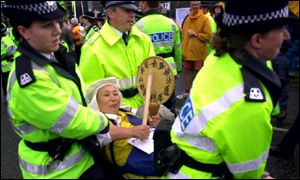 Arrests at Faslane