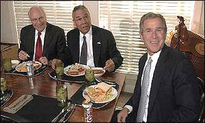 Cheney, Powell, Bush