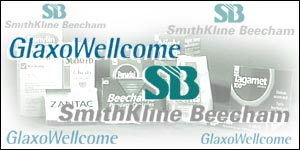 Glaxo Wellcome and Smithkline Beecham logos