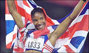 Denise celebrates Olympic gold in Sydney