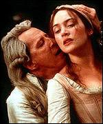 Geoffrey Rush and Kate Winslet in Quills
