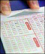 Filling in a lottery ticket