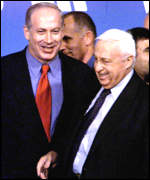 Ariel Sharon and Benyamin Netanyahu