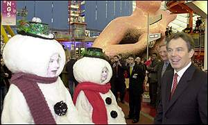 Tony Blair visits the Dome