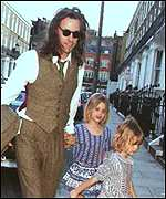 Bob Geldof and daughters