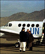 UN plane in Afghanistan