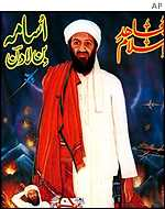 Poster of Osama bin Laden in Pakistan