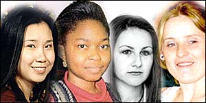 All four young women have disappeared without trace