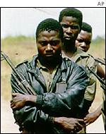Angolan army soldiers