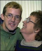 Paul Winder with his mother, Anne
