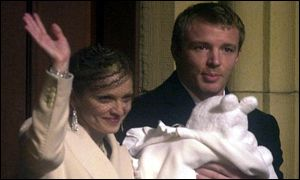 Madonna, Guy Ritchie and baby Rocco