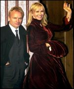 Sting with wife Trudi Styler